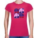 Tričko s potiskem dámské Husák popart 2