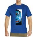 Autorské tričko s potiskem pánské Porsche modré (Libor Hotar)