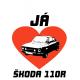 Tričko s potiskem pánské Miluji Škoda 110 R