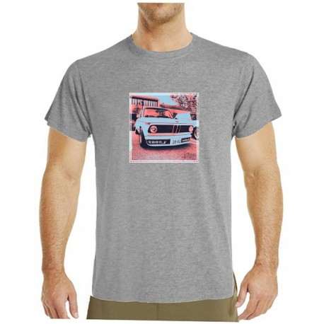 Tričko s potiskem pánské BMW 2002 červenočerné