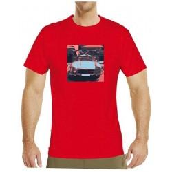Tričko s potiskem pánské Mercedes Benz Gullwing černočervené