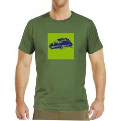 Tričko s potiskem pánské Tatra T87 zelenomodrá