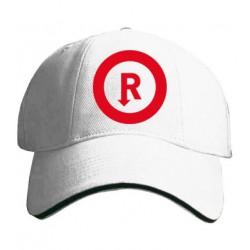 Kšiltovka s potiskem R červené kruh
