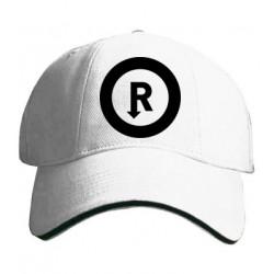 Kšiltovka s potiskem R černé kruh