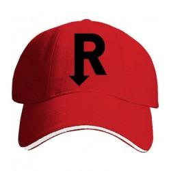 Kšiltovka s potiskem R černé