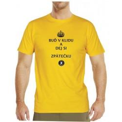 Tričko s potiskem pánské Dej si zpátečku černé
