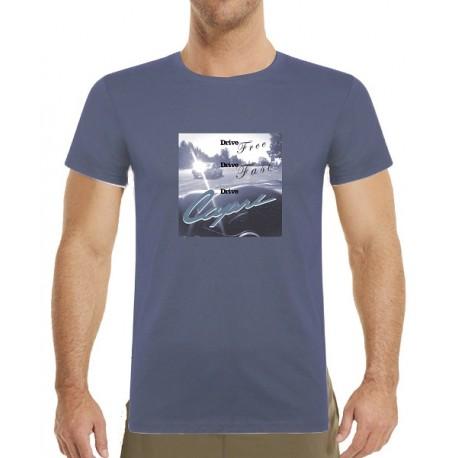 Tričko s potiskem pánské Drive free Drive free Drive Capri