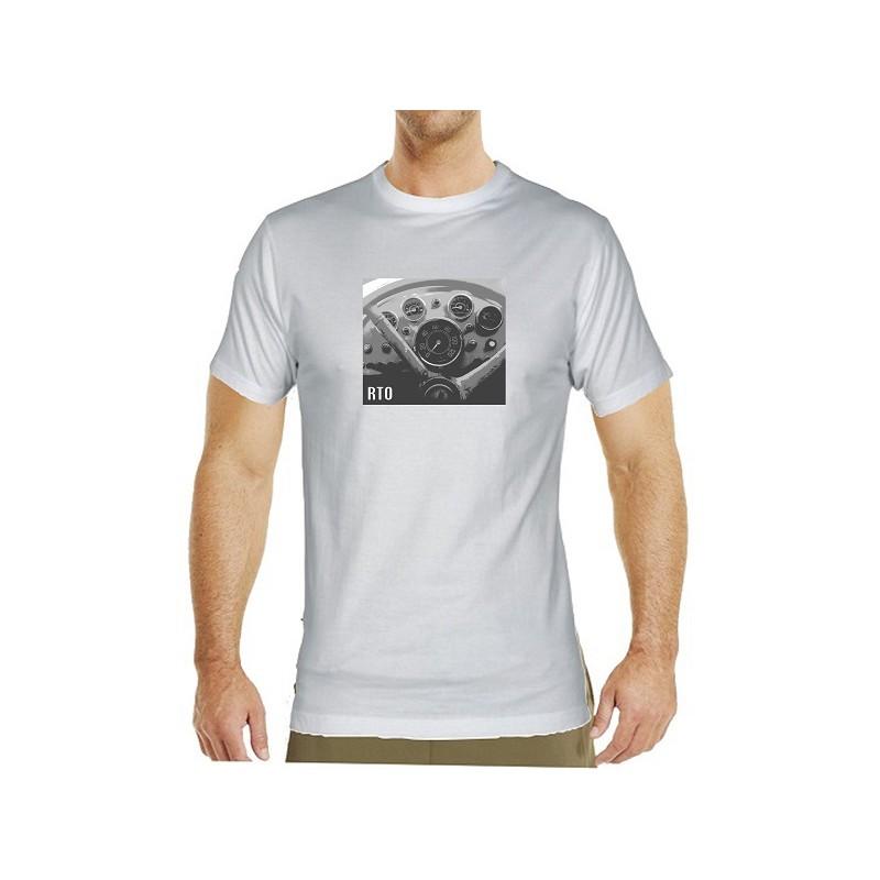 2f0a51577788 Kvalitní pánské tričko s černobílým potiskem RTO