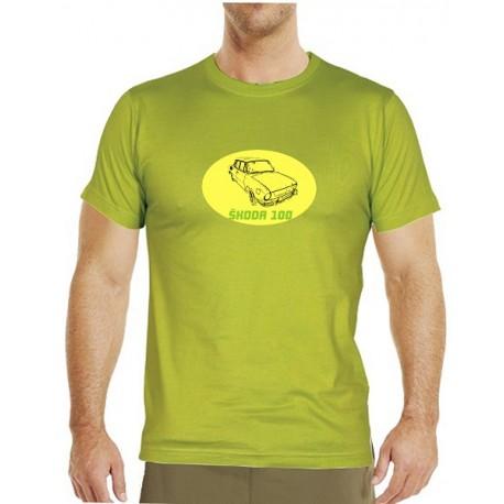 Tričko s potiskem pánské Škoda 100 žlutá