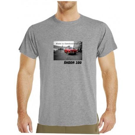 Tričko s potiskem pánské Škoda 100 červená