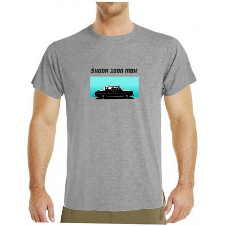 Tričko s potiskem pánské Škoda 1000 MBX