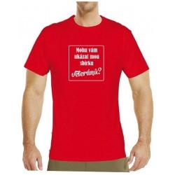 Tričko s potiskem pánské Mohu Vám ukázat svou sbírku veteránů? bílé