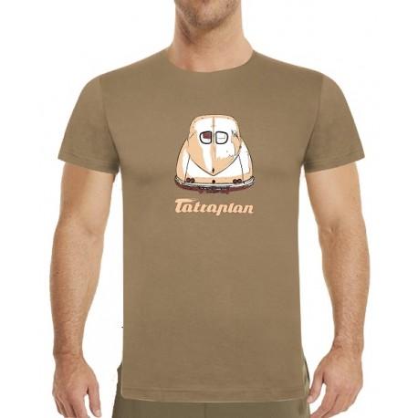 Originální pánské tričko s béžovým potiskem Tatraplan 493b3370e8