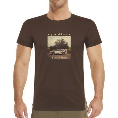 Tričko s potiskem pánské Audi Quattro B group beast
