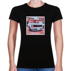 Tričko s potiskem dámské BMW 2002 červenočerné