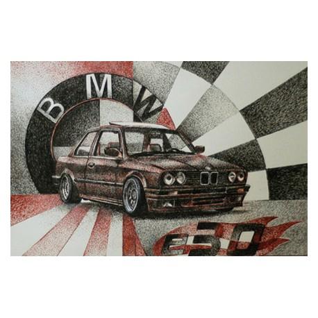 Samolepka hranatá BMW E30