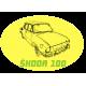 Tričko s potiskem dámské Škoda 100 žlutá