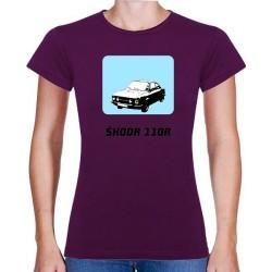Tričko s potiskem dámské Škoda 110 R