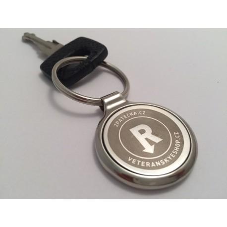 Klíčenka kovová šedá logo