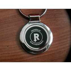 Klíčenka kovová černá logo R